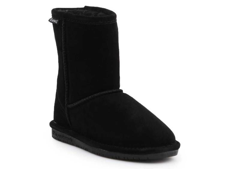 BearPaw 608Y Black Neverwet children's winter shoes